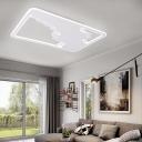 Ultra Thin Flush Lamp Modernism Metal Integrated Led White Flush Mount Ceiling Light, 19