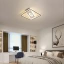 Modern Square Flush Mount Lighting Acrylic 16