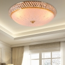 Restaurant Hotel Dome Ceiling Lamp Acrylic Contemporary LED Ceiling Mount Light in Gold