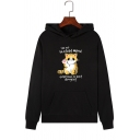 Annoying Cat Letter I'M IN A BAD MOOD Print Kangaroo Pocket Pullover Hoodie