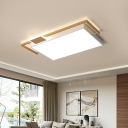 Nordic Style Flush Mount Ceiling Light with Metal Shade Led Indoor Ceiling Lamp
