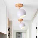 Nordic Black/Gray/White/Pink/Green Orbit Semi Flush Light Adjustable 1 Light Metal Ceiling Mount Light Fixture