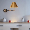Metal Cone Wall Light Nordic 1 Light 10