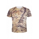 Men's Middle Earth Map 3D Print Short Sleeve  Round Neck T-Shirt