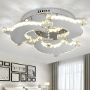 Animal Nickle Semi Flush Mount Light Dolphin 2/3 Heads Metal Ceiling Light for Child Bedroom
