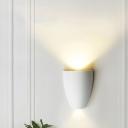 2 Lights Led Mini Wall Mount Lamp Minimalist Metal Stair Wall Lighting in Black/Gold/Grey/White