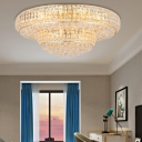Gold Crystal Flush Mount Light Modern 23.5