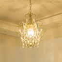 Single Light Mini Pendant Light Modern Crystal Ceiling Hanging Light for Kitchen Island