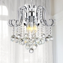 Crystal Ball Hanging Pendant Light Contemporary 4 Lights Chandelier Lamp for Foyer