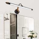 Rotatable Black Armed Vanity Lighting Vintage Style Metal 1 Light Led Wall Lamp, 19