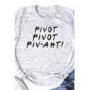 Summer Fashion Letter PIVOT PIVOT PIV-AHT Printed Short Sleeve T-Shirt