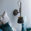 Adjustable Armed Wall Mount Light Modern Metal 1 Light Wall Light Fixture in Black for Bedroom