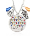 Lady Popular Movie Jewelry Fashion Alphabet Wall 11 Letter Pendant Necklace