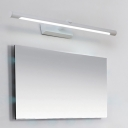 Minimalist Tubular Bath Bar Integrated Led Metallic Indoor Vanity Lamp for Bathroom
