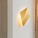 Metal Folded Wall Lamp Nordic Simple Living Room LED Wall Mount Light in Black/Coffee/Grey/Gold/Rose Gold/White
