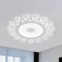 Modern Flower Flush Ceiling Light Acrylic Led Flush Mount Lighting with Clear Shade in White Light, 16