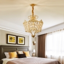 Traditional Wire Frame Hanging Lamp 5 Lights 21.5
