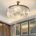 2 Tiers Drum Chandelier Contemporary 4/8 Lights 18