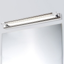 Waterproof Linear Wall Lighting Modernism Stainless Steel Led Bath Light in Silver