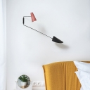 2 Lights Sconce Lighting with Metal Shade and Swing Arm Nordic Style Indoor Lighting for Bedside