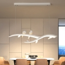 Branch and Bird Hanging Light with Diffuser Modern Led White Island Pendant Light in Warm/White Light, 27