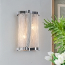 Living Room Tassel Sconce Wall Light Metal 2 Heads Postmodernism Sconce Light in Gold/Silver