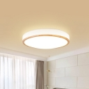 Warm/White/Natural Light Circle Flushmount Ceiling Lamp Modernist Acrylic LED Flush Ceiling Light in White, 13