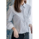 Womens Classic Anchor Pattern Printed Long Sleeve Sherpa Lined Casual Shirt