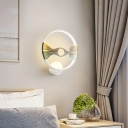 Art Deco Ring Wall Lighting with Landscape Design Metal Integrated Led Indoor Lighting