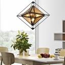 Amber/Smoke Glass Hanging Lamp Nordic Style 8