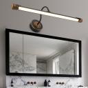 Adjustable Gooseneck Wall Light Fixture Warm/White/Neutral Light Modern Metal Led Black Bath Light, 17