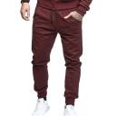 Men's Plain Joint Lashing Belts Outdoor Casual Jogger Pants