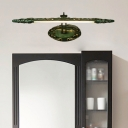 Green Linear Vanity Lamp 1 Light 19.5