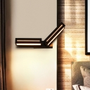 Rotatable Rectangle Wall Lamp Modern Metal Black/White Led Wall Mount Light with Diffuser