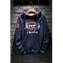 Mens Stylish Letter ORIGINAL Graphic Printed Long Sleeve Casual Loose Hoodie