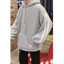 Trendy Stripe Side Long Sleeve Half-Zip Unisex Casual Plush Hoodie with Pocket