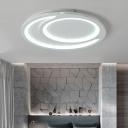 White Ripple Flush Lighting Modern Simple Metal Led Flushmount Light, 16