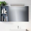 Metal Linear Wall Mounted Light with Acrylic Diffuser Modern Brown Vanity Lighting over Mirror in Warm/White Light, 16