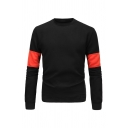 Britpop Colorblocked Panel Long Sleeve Causal Sweatshirt for Men
