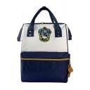 Popular Movie Badge Printed Color Block Zipper School Bag Satchel Backpack 38*28*17 CM