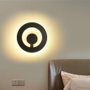 Metal Ultra Thin Round Wall Lamp Modernism 11W Led Wall Mounted Lighting for Bedroom