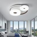 Acrylic Round Ceiling Light Modernism Integrated LED Flush Lighting for Living Room