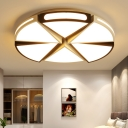 White/White and Black Round Ceiling Light for Kitchen, Metal 16