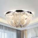 Metal Chain Ceiling Lighting Modernism Multi Light 16
