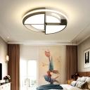 Warm/White Round Lighting Fixture Modern Acrylic 16