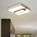 Living Room White Flush Mount Light Acrylic Modern Warm/White Lighting LED Ceiling Lamp