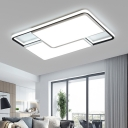 Integrated LED White Flushmount Lighting Modernist LED Square/Rectangle Flush Mounted Ceiling Light, 16