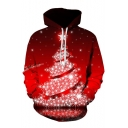 Winter Popular Christmas Series Christmas Tree Santa Jingle Bells Long Sleeve Unisex Hoodie