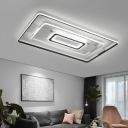 Indoor LED Ceiling Flush Mount Light Modernism Metal Flush Ceiling Light in Black and White