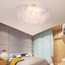 Modern Flush Mount Light with Acrylic Shade Led Brown/White Flush Lighting in Third Gear